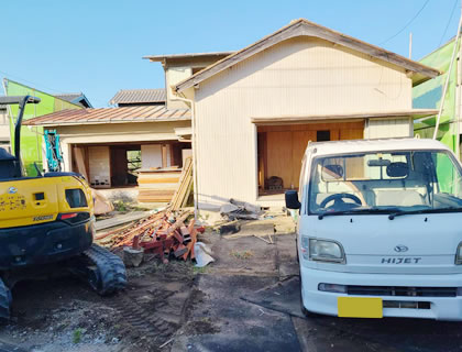 クラサポ三重の家屋解体の特徴は